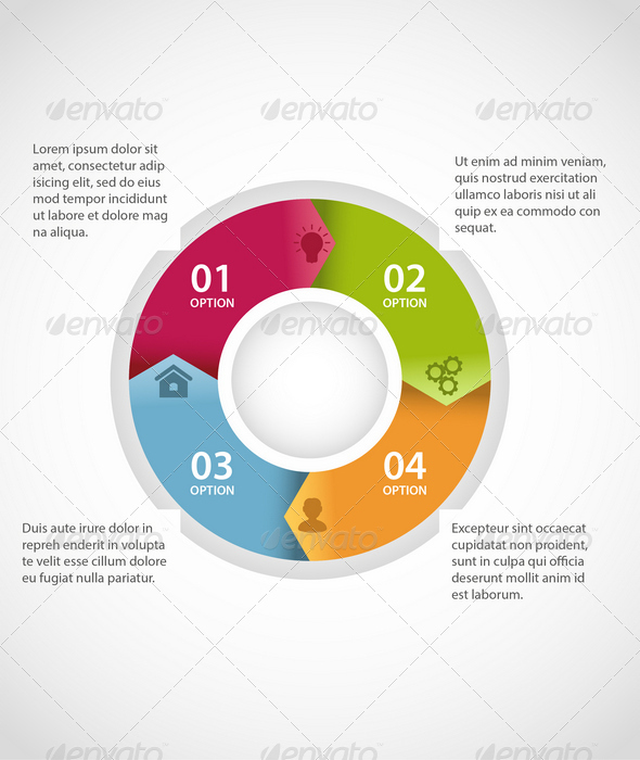Circle Infographic Template by Genestro GraphicRiver - circle template
