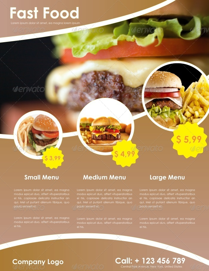 Fast Food Flyer Template by carlos_fernando GraphicRiver - food flyer template