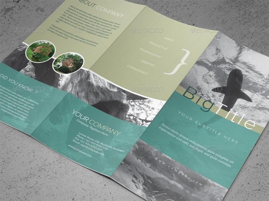 Tri-fold Brochure PSD Template by kinzi21 GraphicRiver - tri brochures