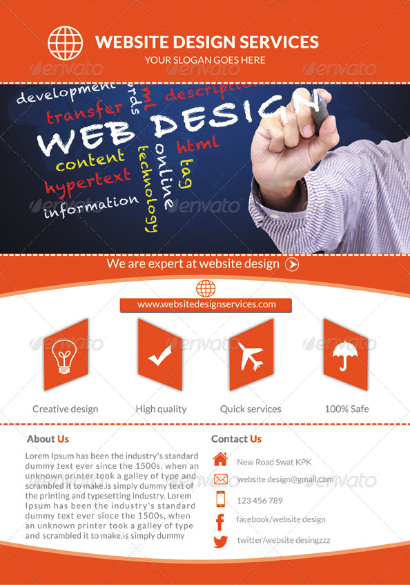 Web Design Services Flyer by Mehrodesigns GraphicRiver - web flyer