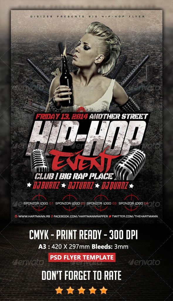 Hip-Hop Flyer by HartmanCre8ve GraphicRiver