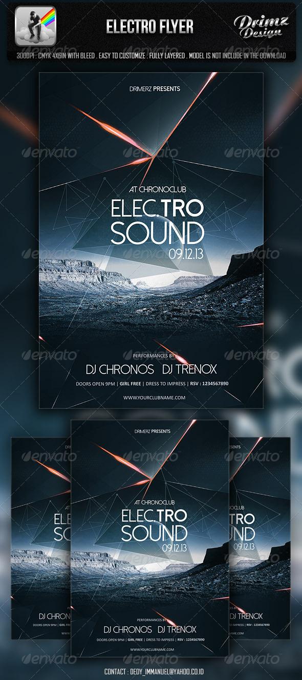 Electro Flyer by drimerz GraphicRiver - electro flyer