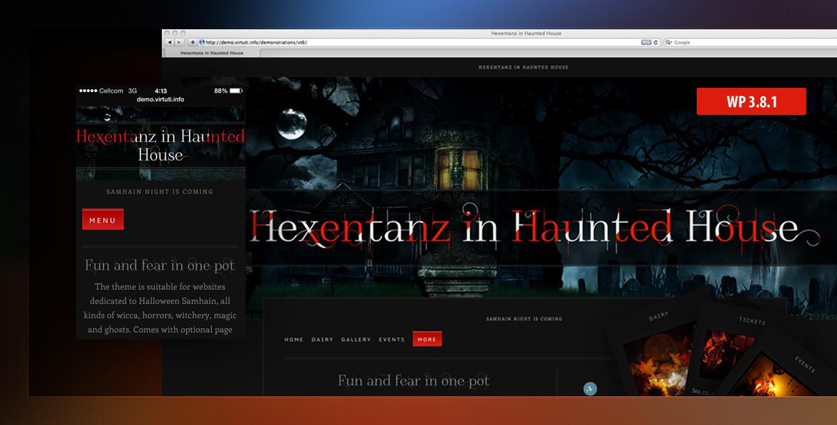 Hexentanz\u2013Horror Halloween Events Spooky WP Theme by virtuti