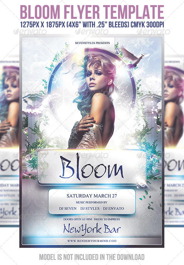Bloom Flyer Template by sevenstyles GraphicRiver