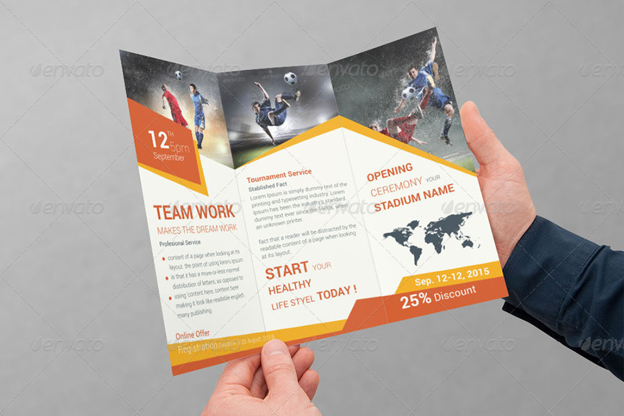 Sports Business TriFold Brochure Volume 1 by dotnpix GraphicRiver - sports brochure