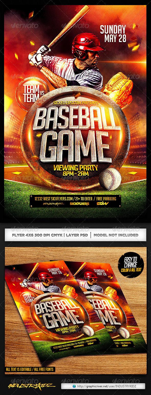 baseball flyers templates