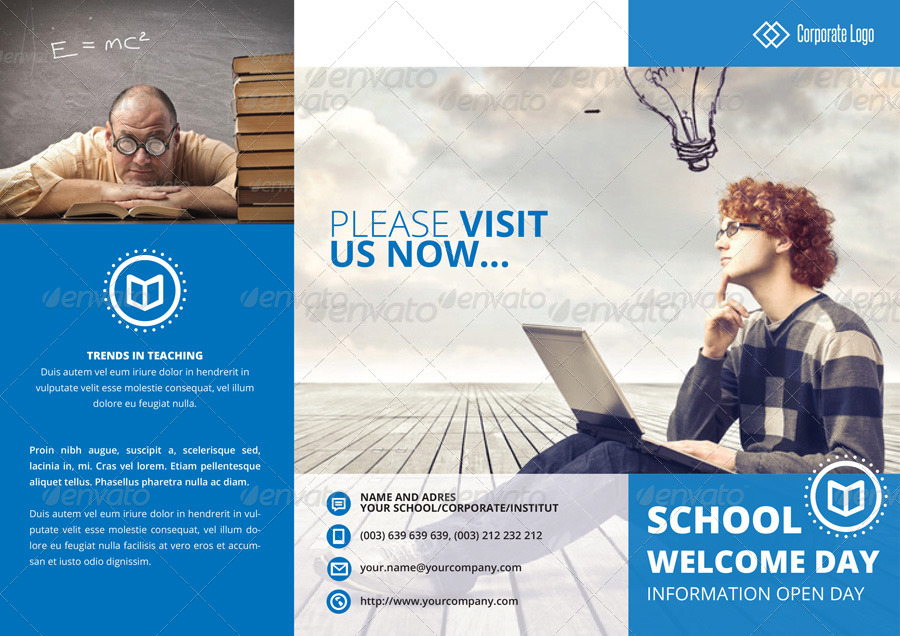 Indesign Brochure Template Business/School by Braxas GraphicRiver
