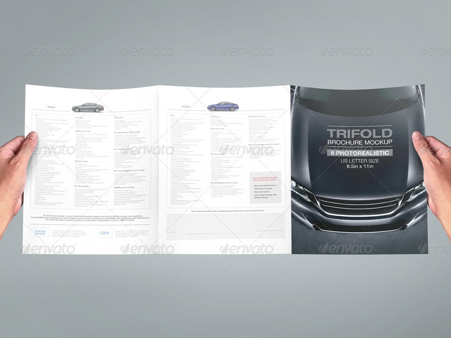 Trifold Brochure Mock-up 02 by kenoric GraphicRiver