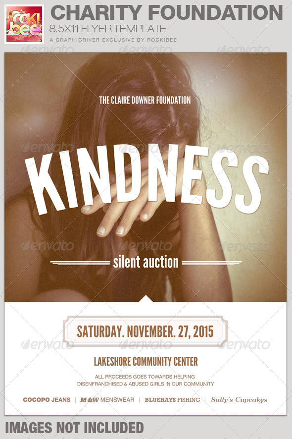 Charity Foundation Event Flyer Template by Rockibee GraphicRiver - event flyer