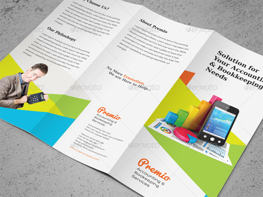 Accounting \ Bookkeeping Services Trifold Brochure by kinzi21 - services brochure