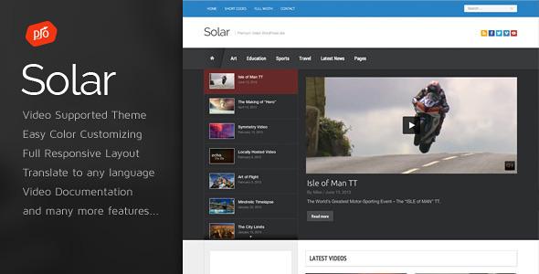 Solar - Video WordPress Theme by ProgressionStudios ThemeForest