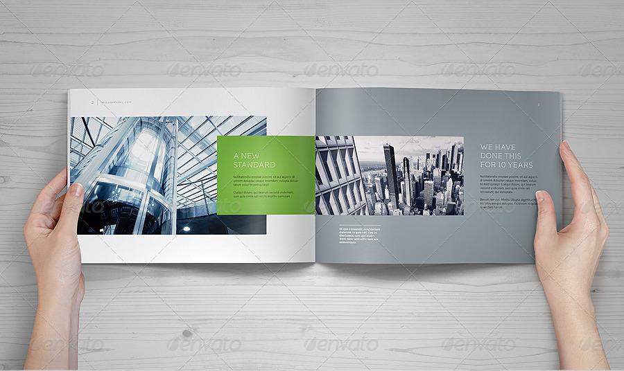 Landscape Brochure Mock-Up Set by punedesign GraphicRiver