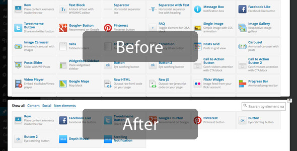 Visual Composer Extension Remover Simplify the VC by sike CodeCanyon