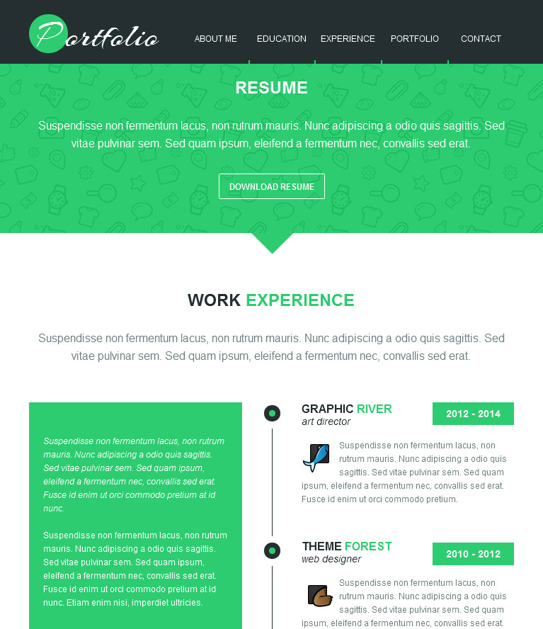 Multi-purpose / Resume / Portfolio Muse Theme by Fadeink ThemeForest