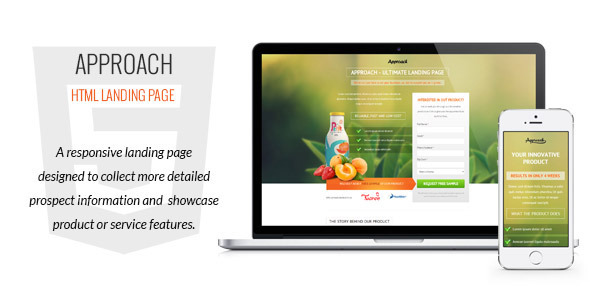 Approach - HTML Landing Page by G10v3 ThemeForest