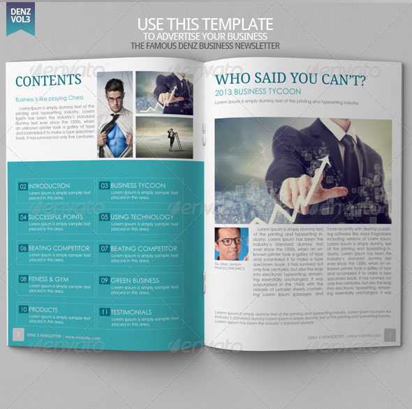 Business Newsletter Vol VIII by BloganKids GraphicRiver