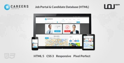 CAREERS - Job Portal & Candidate Database (HTML) by DirectoryThemes