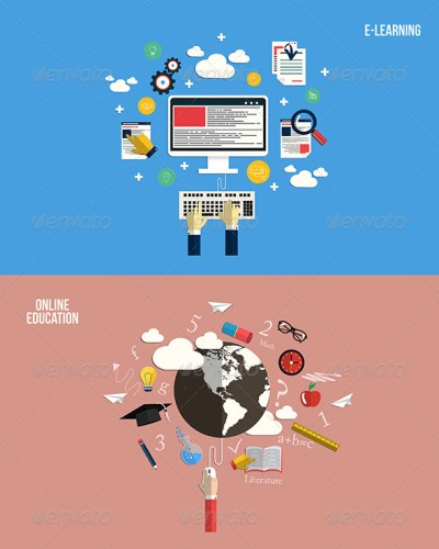 Icons for Online Education and e-Learning by graphics4u | GraphicRiver