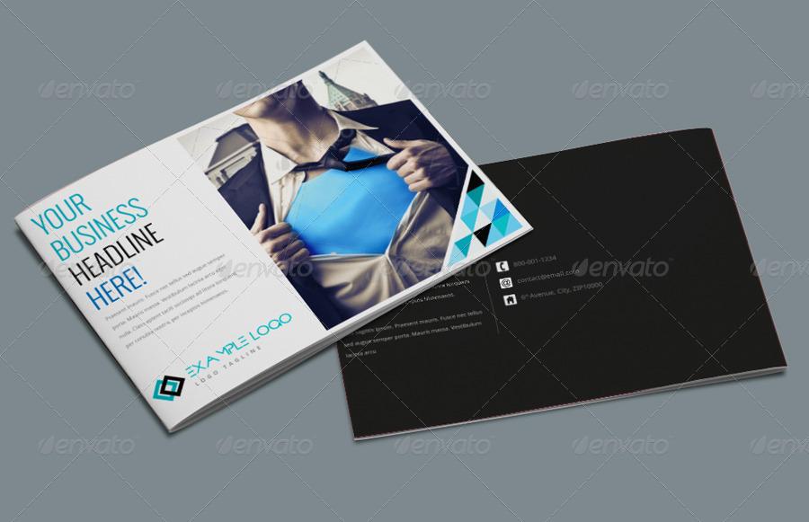 A5 Landscape Brochure Template by pmvch GraphicRiver