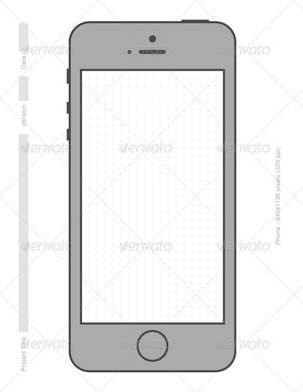 Simple Phone Printable Vector Templates by DigitalYardSale