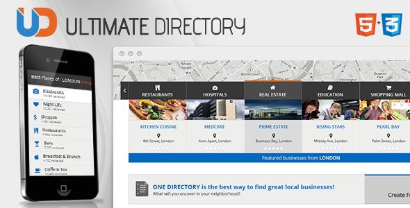 Directory - Responsive Site Template by CrunchPress ThemeForest - neighborhood website templates