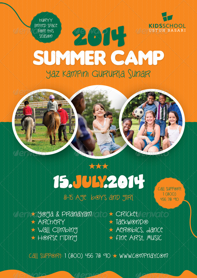 Summer Camp Flyer Templates by grafilker GraphicRiver