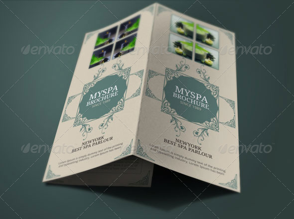 Spa Brochure Template by BloganKids GraphicRiver - spa brochure