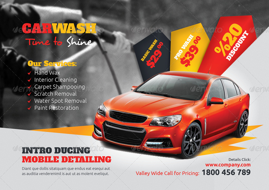 Car Wash Flyer Templates by grafilker GraphicRiver - car wash flyer template