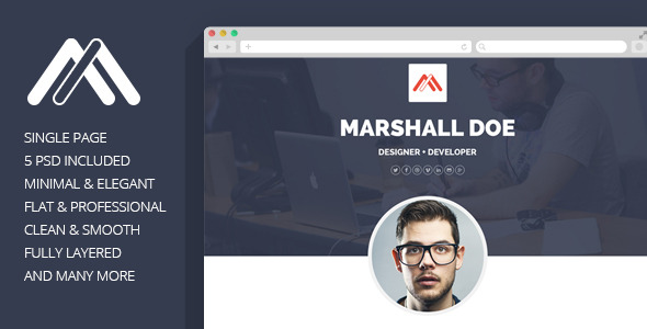 MD - Resume PSD Template by bigpsfan ThemeForest - resume website template