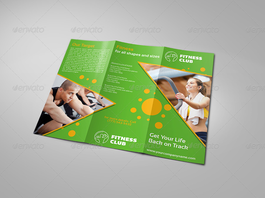 Fitness - GYM Brochure Tri-Fold Template Vol2 by OWPictures - Fitness Brochure