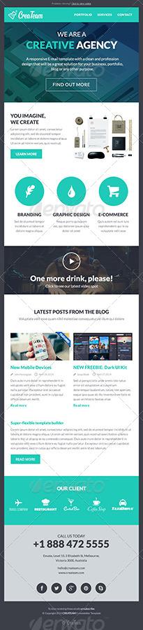 CreaTeam - Multipurpose E-newsletter Template by creakits GraphicRiver