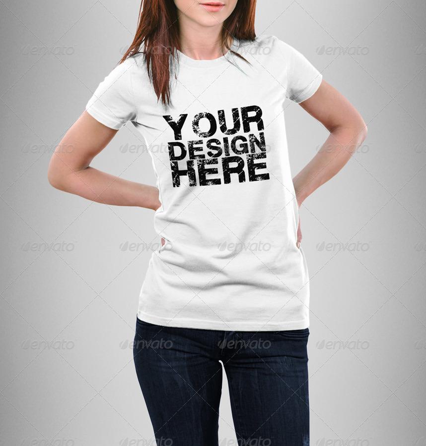 Man Woman T-Shirt Mock-Up Bundle by Eugene-design GraphicRiver