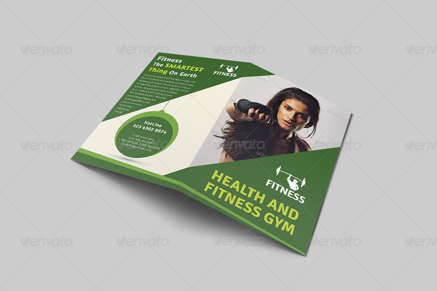Health  Fitness Bi-Fold Brochure Volume 2 by dotnpix GraphicRiver - Fitness Brochure