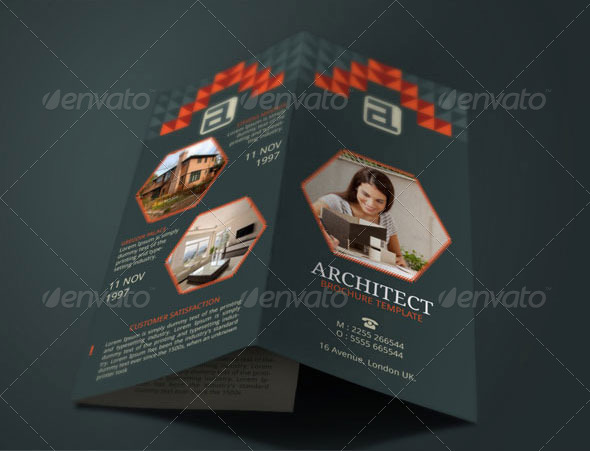 Architect Brochure Template by BloganKids GraphicRiver - architecture brochure template