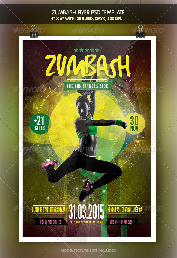 Zumbash Fitness Flyer Template by zacomic GraphicRiver