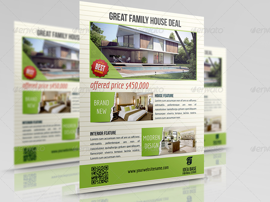 Real Estate Flyer Bundle Template Vol2 by OWPictures GraphicRiver - land for sale flyer