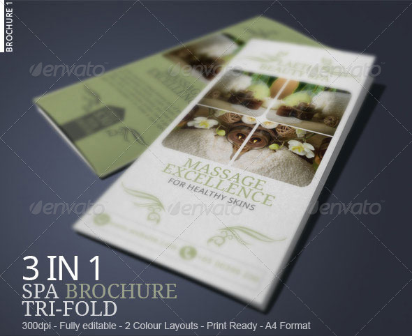 Spa Brochure Collection 2014 by BloganKids GraphicRiver - spa brochure