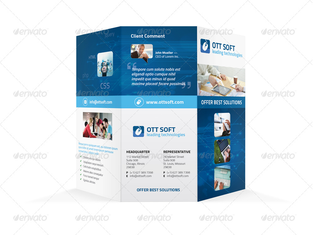 IT and Software Trifold Brochure by Mike_pantone GraphicRiver