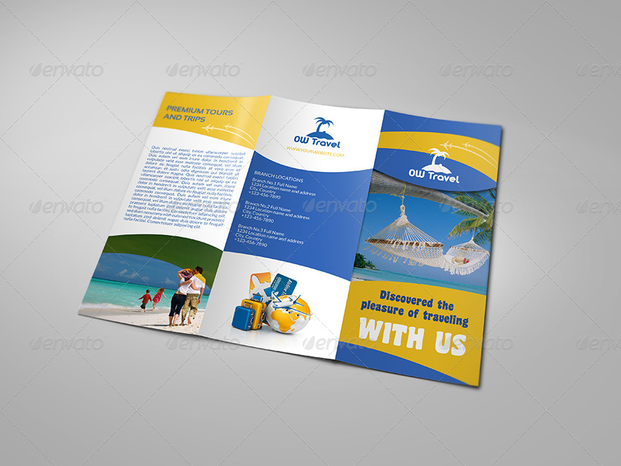 Travel Company Tri Fold Brochure Template by OWPictures GraphicRiver - Company Brochure Templates
