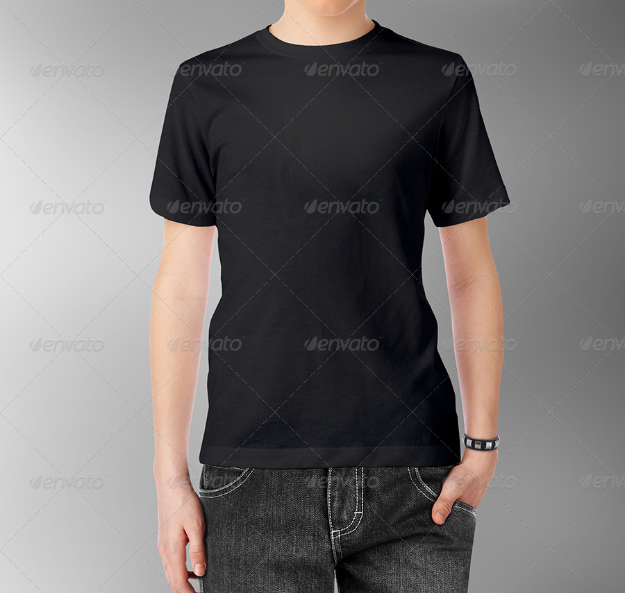 Teenagers T-Shirt and Polo Shirt Mock-up by gaidukdesign GraphicRiver