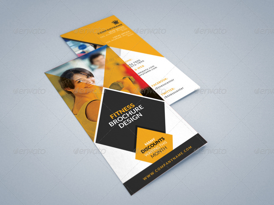 Fitness Gym Tri-Fold Brochures Template 2 by CreativeSource_online - Fitness Brochure