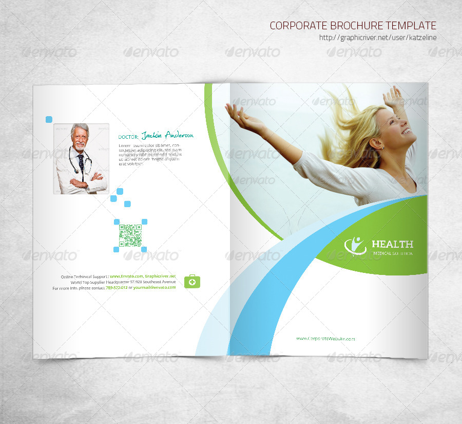 Health Medical Care - Bifold Brochure Template by katzeline - Medical Brochure Template