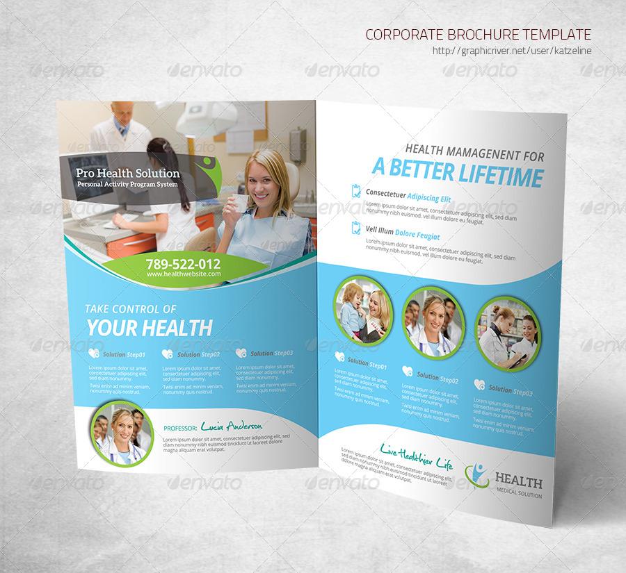 Health Medical Care - Bifold Brochure Template by katzeline - medical brochure