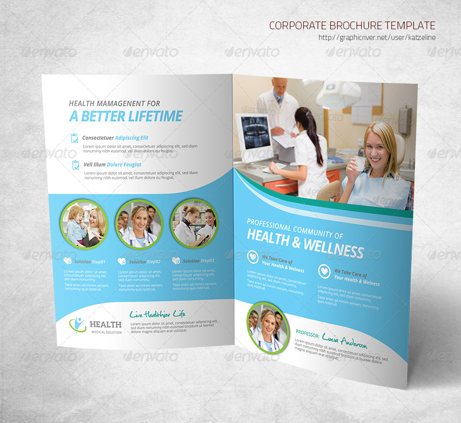 Health Medical Care - Bifold Brochure Template by katzeline