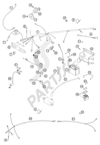 wiring harness 250 exc