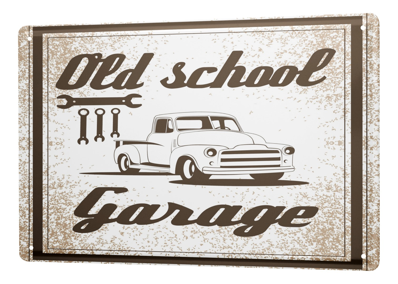 Old School Garage Tin Sign Garage Old School Garage Ebay