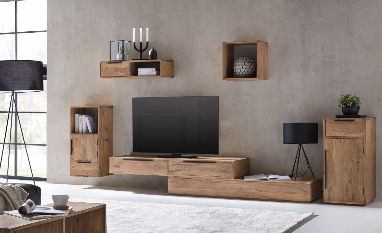tv bank auckland variabel lowboard akazie massiv holz