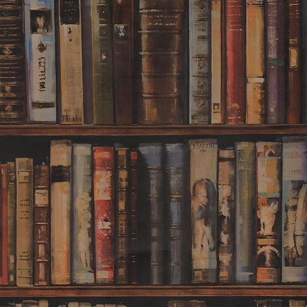 3d Bookshelf Wallpaper Library Multi 2x10m Roll Set Wallpaper Andrew Martin