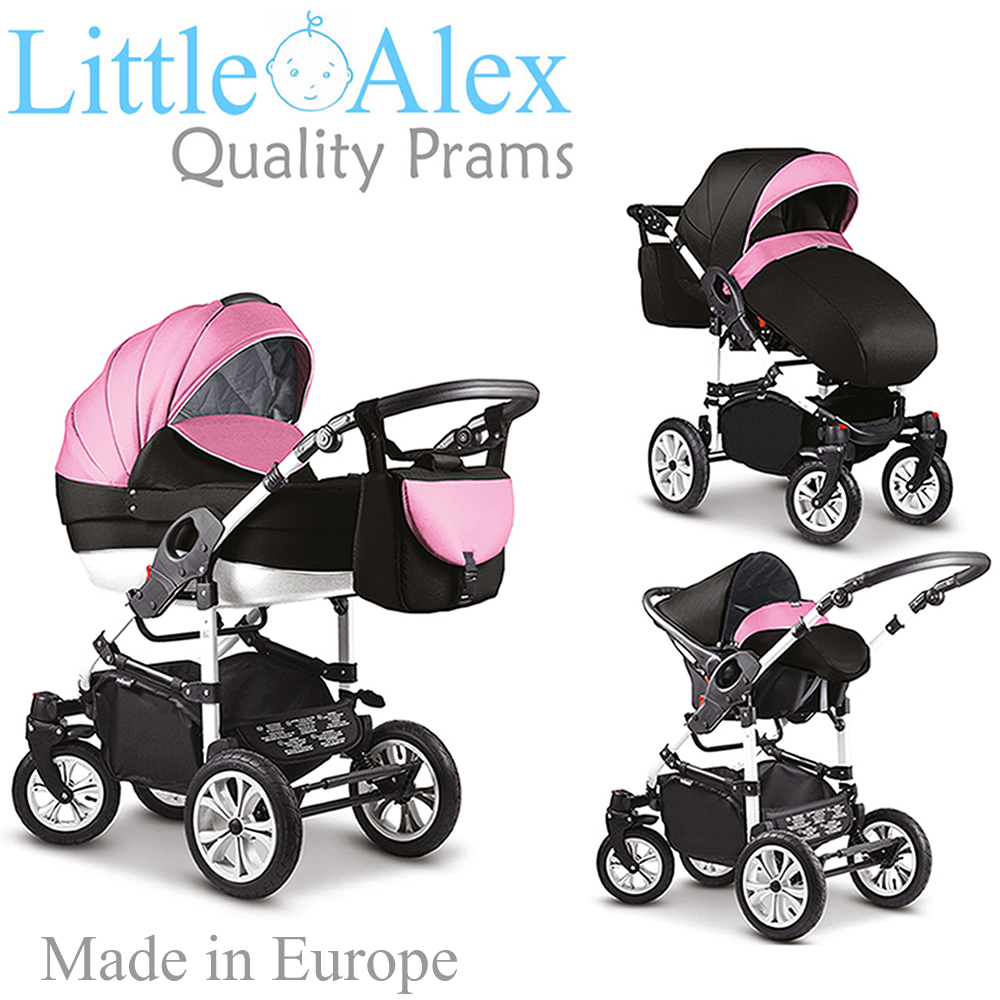 Baby Pram Stroller Pushchair + Car Seat Carrycot Buggy Travel System Details About Pink Black 3 In 1 Baby Pram Stroller Pushchair Car Seat Carrycot Travel System
