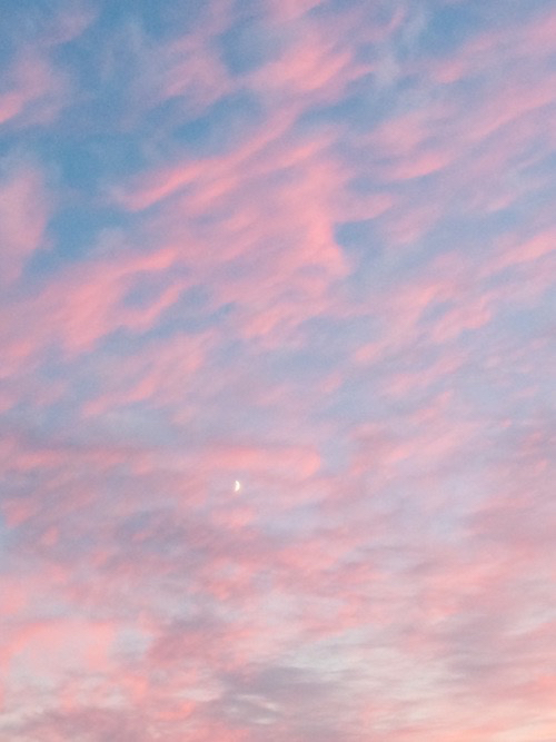 Glossier Iphone Wallpaper Blue Cool For You Like Love Moon Pink Sky
